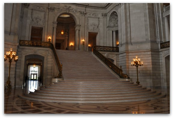 SF City Hall's Marble Staircase