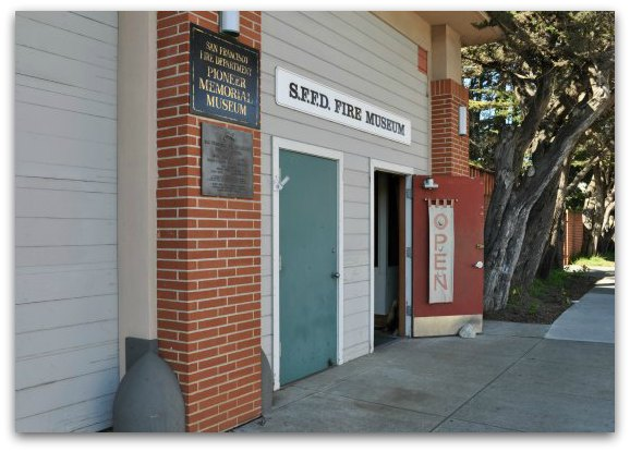 The entrance to the San Francisco Fire Department Museum