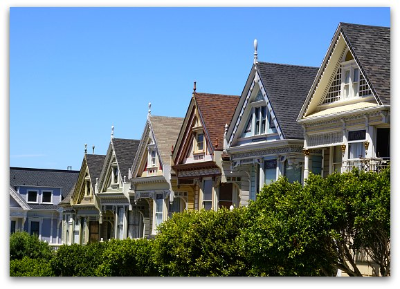 Steiner Street Painted Ladies