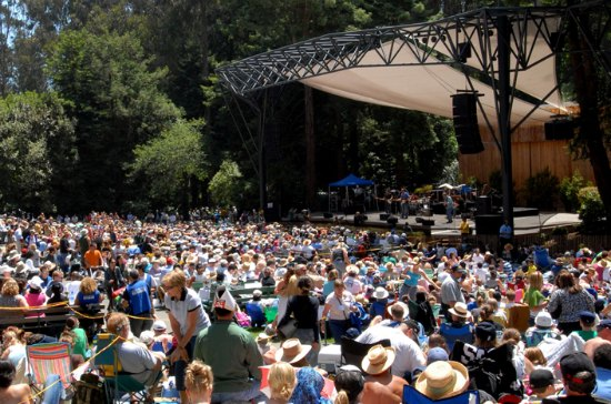 Stern Grove Festival with crowd and stage