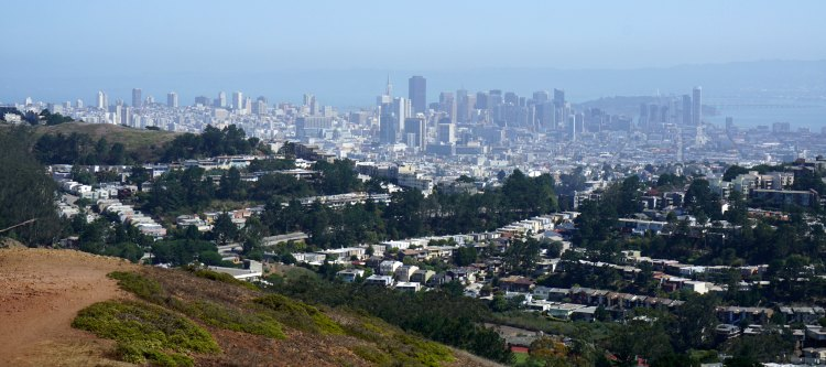 Views from the top of Mount Davidson