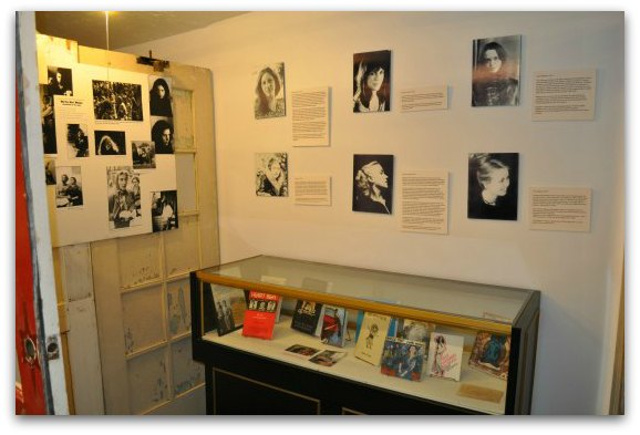 A display talking about the women of the Beat Generation at the Beat Museum in SF