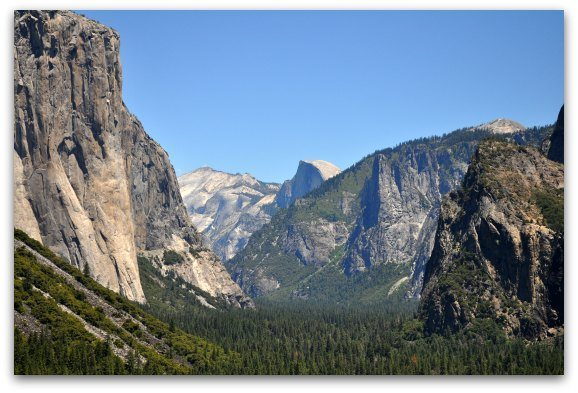 Half Dome and the rest of Yosemite Valley